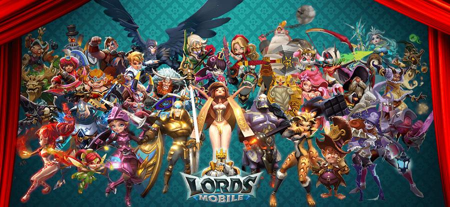 Lords Mobile —советы по прохождению, героям, соревнованиям и гильдиям