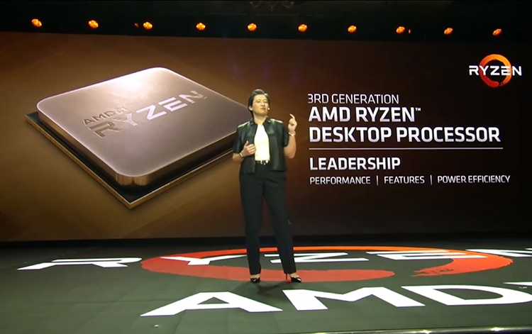 "AMD показала прототип Ryzen 3000 на архитектуре Zen 2: восемь ядер и +15% к производительности"""