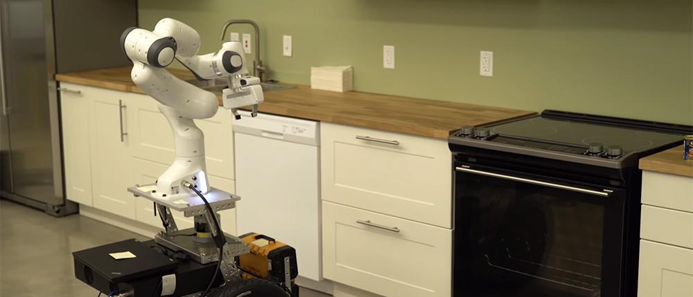 Nvidia показала робота-помощника, который помоет за вас всю грязную посуду. Он напоминает Кодсворта из Fallout 4