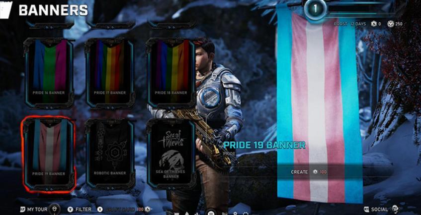 В Gears 5 нашлись ЛГБТ-флаги