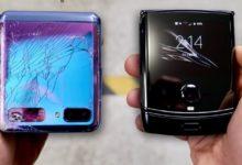 Складные Samsung Z Flip и Motorola Razr 2019 проверили на прочность — тест на видео
