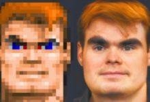 Страшно, вырубай: нейросеть превратила героев Doom, Wolfenstein и Minecraft в реальных людей