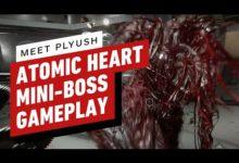 Авторы Atomic Heart показали схватку с мини-боссом и десятком цветочков