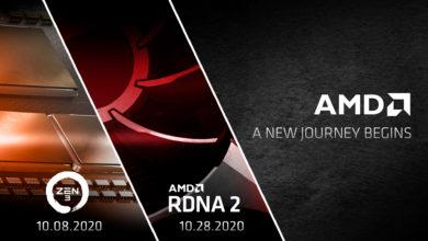 «Красный октябрь». AMD раскрыла даты анонсов процессоров Zen 3 и графики Big Navi