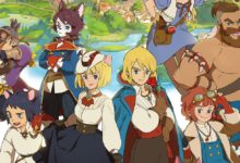 Квест с гусями в геймплее MMORPG Ni no Kuni: Cross Worlds