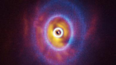 Впервые выполнено наблюдение протопланетного диска, растерзанного центральными звёздами