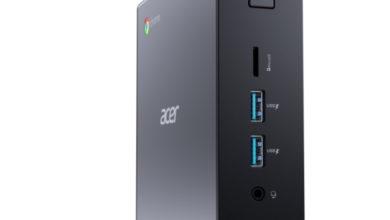 Acer представила компактную рабочую станцию Chromebox CXI4 и смарт-динамик Halo