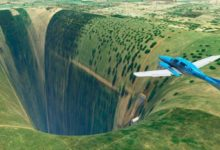 В Microsoft Flight Simulator обнаружили впечатляющий глюк с огромной пропастью