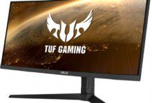 Большой игровой монитор ASUS TUF Gaming VG34VQL1B имеет вогнутую форму