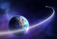 На днях астероид пролетел всего в 370 км от Земли. Это ближе, чем летает МКС