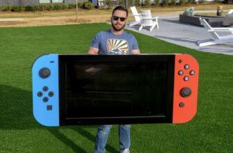 Фанат собрал гигантскую Nintendo Switch для детей в больнице. Она полностью рабочая (видео)