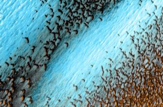 Фото дня: синие дюны на Красной планете